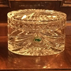 Waterford covered box. Gift, never used